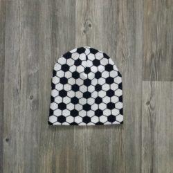 Jalkapallo-pipo kaksinkertaista trikoota.