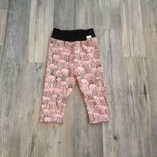 pupuset legginssit vaaleanpunainen pupu musta resori